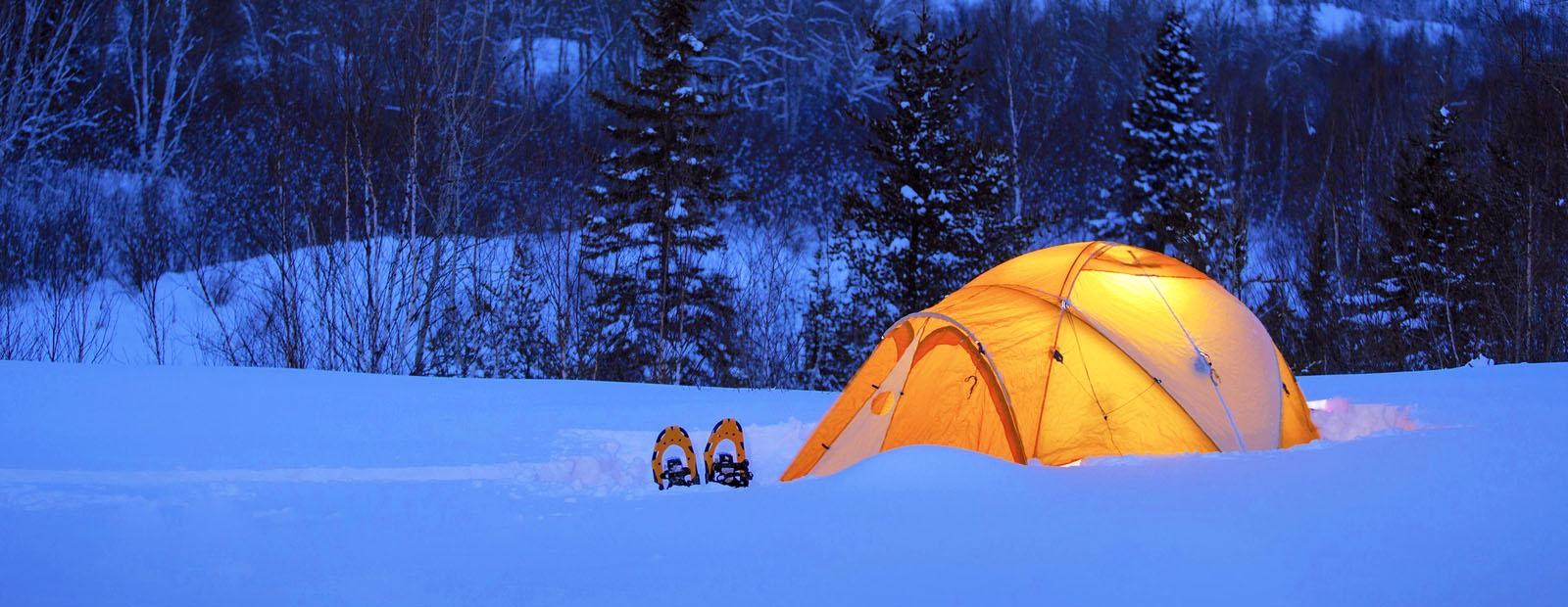 Зимова ночівля в наметі