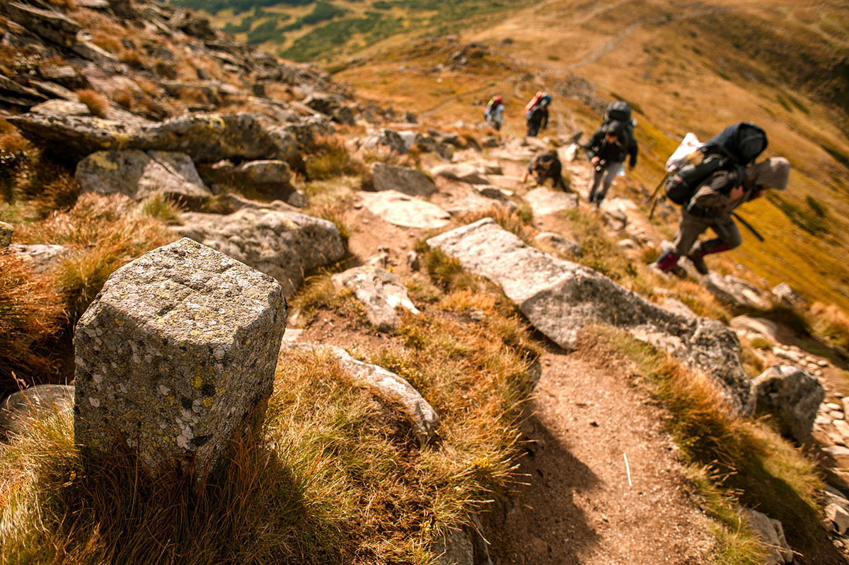 Чорногірський хребет, прикордонний стовбчик фото Ю.Шушкевич