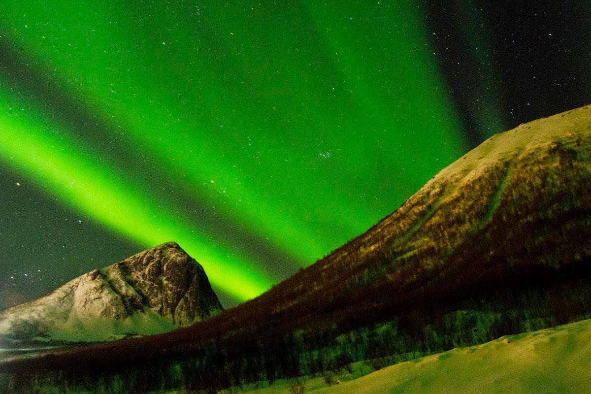 Норвегія, полярне сяйво